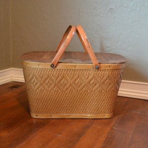 Or a VINTAGE PICNIC BASKET.